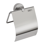 Stainless steel toilet paper holder, polished