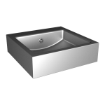 Stainless steel wall hung square washbasin
