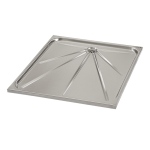 Stainless steel shower tray 700 x 700 x 35 mm