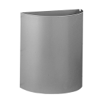 Stainless steel wall hung waste bin, volume 12 l, brushed