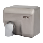 Automatic wall mounted hand dryer with stainless steel brushed cover