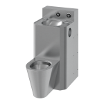 Vandal-proof combination unit, floor standing toilet, service hatch