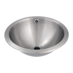 Stainless steel recessed washbasin, Ø 420 mm