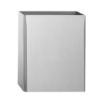 Stainless steel wall hung waste bin, volume 26,5 l, brushed