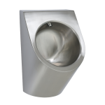 Stainless steel automatic urinal with integrated thermic flushing unit, 24 V DC