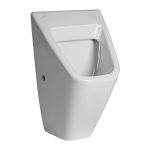 Urinal Vila without cover with a radar flushing unit and integrated power supply, 230 V AC