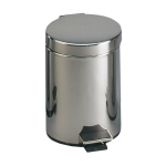 Stainless steel waste bin with a plastic insert, volume 12 l, Ø 250 x 380 mm, polished