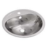 Stainless steel recessed washbasin with tap hole