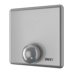 Shower control without piezo button for coin and token shower timers with index M - for cold and hot water, temperature regulated by mixer