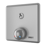 Shower control with piezo button - for cold and hot water, water temperature  regulation by mixer