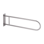 Stainless steel hand rail, solid, length 900 mm, polished