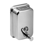 Stainless steel liquid soap dispenser, volume 1,25 l, polished