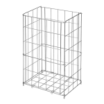 Wire waste bin, stainless steel, 540 x 340 x 260 mm