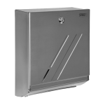 Stainless steel supply bin for a folder paper towels
