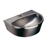 Stainless steel wall hung washbasin with tap hole