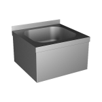 Stainless steel wall hung sink with apron