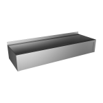 Stainless steel trough with apron, from AISI 316L, 1250 mm