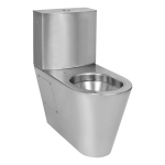 Stainless steel toilet with a tank