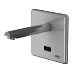 Wall-mounted tap, spout of 170 mm, 24 V DC