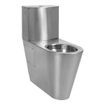 Stainless steel toilet for disabled people with a tank