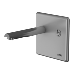 Wall-mounted piezo tap, spout of 170 mm, 6 V