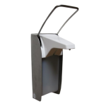 Stainless steel wall-mounted liquid/gel disinfection and soap dispenser