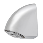 Vandal-proof shower head, adjustable angle of water flow