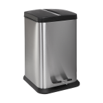 Stainless steel floor standing waste bin with a plastic insert