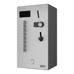 Coin and token shower timer for four to eight showers, 24 V DC, choice of shower by the user, interactive control