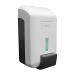 Wall-mounted liquid/gel disinfection and soap dispenser