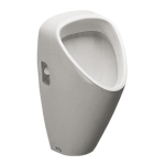 Urinal Caprino with a radar flushing unit and integrated power supply, 230 V AC (plug & play)