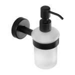 Stainless steel glass soap dispenser, black matt finish