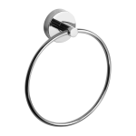 Stainless steel towel ring, polished finish