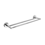 Stainless steel double towel bar, polished finish