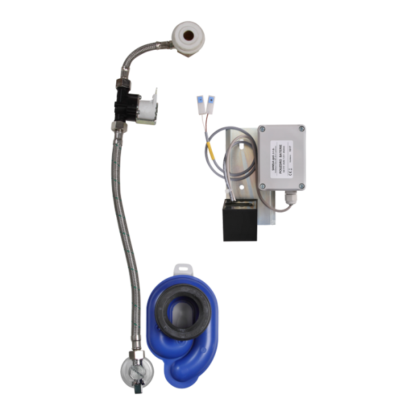 Radar flushing unit on the mounting rail for urinal Roca Zoom / Inker, 6 V