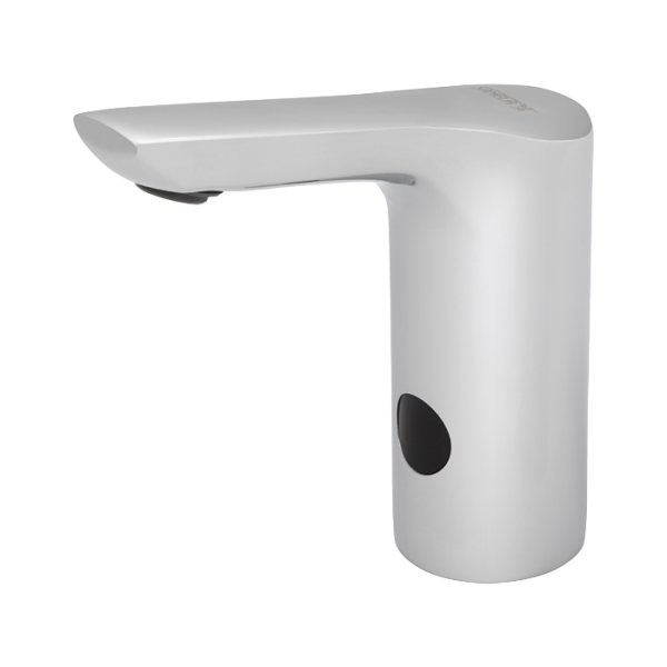 Automatic washbasin tap for cold or premixed water, 6 V