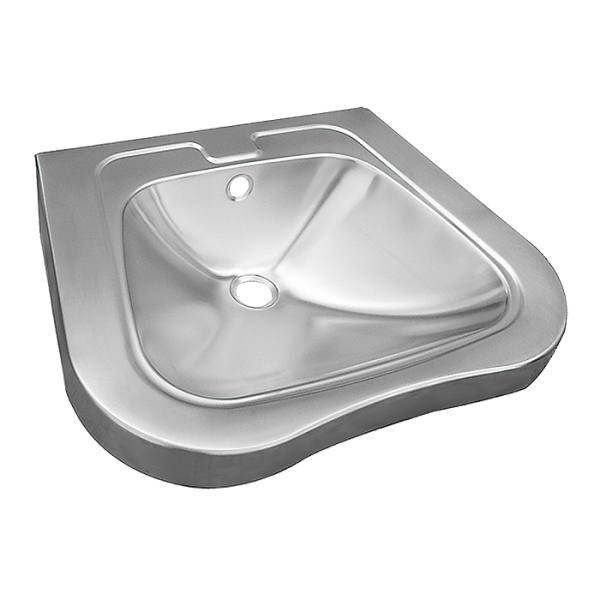 Stainless steel wall hung washbasin for disabled people