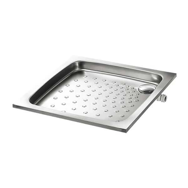 Stainless steel shower tray 800 x 800 x 71 mm