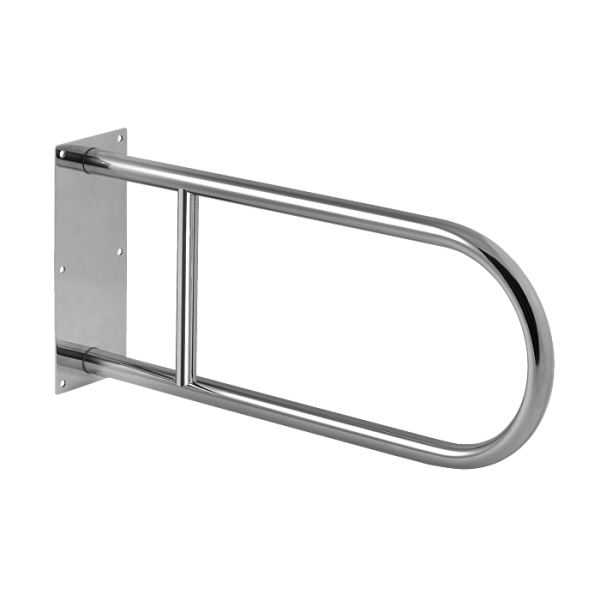 Stainless steel hand rail, solid, length 550 mm, polished