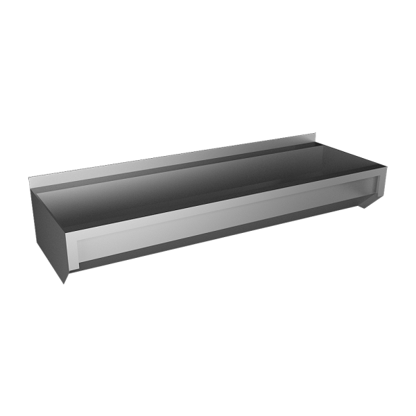 Stainless steel trough without apron, from AISI 316L, 1250 mm