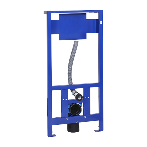 Mounting frame for wall hung toilet