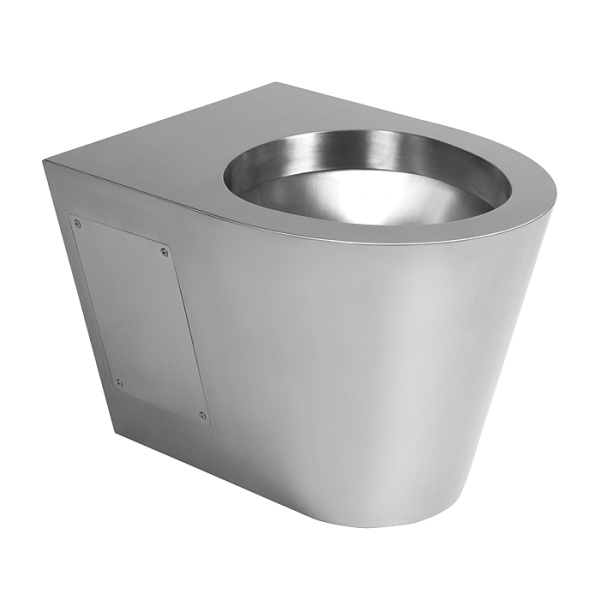 Stainless steel hanging toilet
