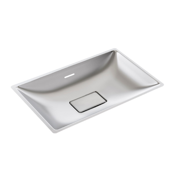 Stainless steel recessed washbasin