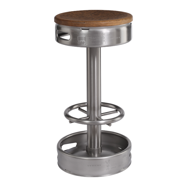 Stainless steel KEG bar stool