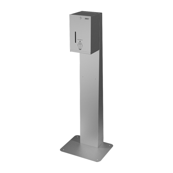 Automatic stainless steel liquid and gel disinfection dispenser - stand for standing to the wall included