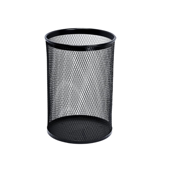 Round waste bin, color black, 13 l